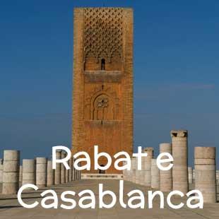 Hotel, riad e strutture di charme a Rabat, cuore amministrativo del Marocco, e a Casablanca, centro economico del Paese.